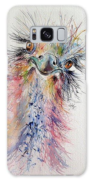 Ostrich Galaxy Case - Ostrich by Kovacs Anna Brigitta