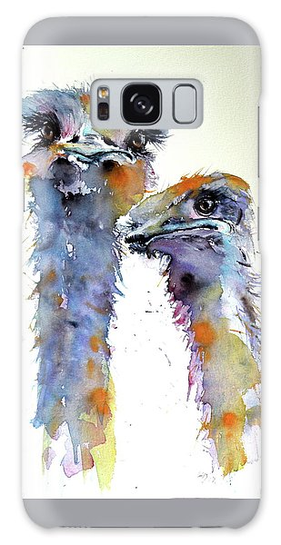 Ostrich Galaxy Case - Ostriches by Kovacs Anna Brigitta