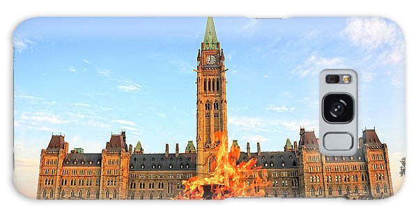 Ottawa Parliament Hill With Centennial Flame Galaxy Case by Charline Xia