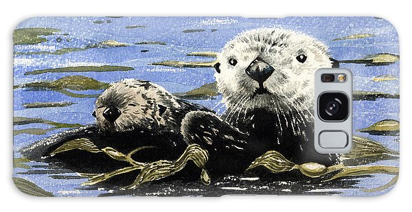 Otter Galaxy Case - Otter And Pup by David Rogers