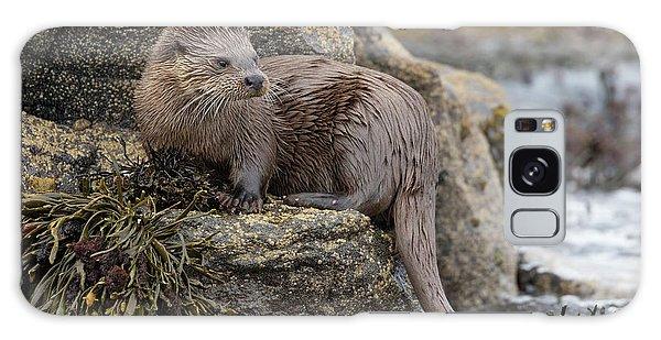 Otter Beside Loch Galaxy Case