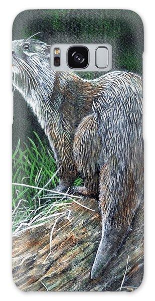 Otter On Branch Galaxy Case