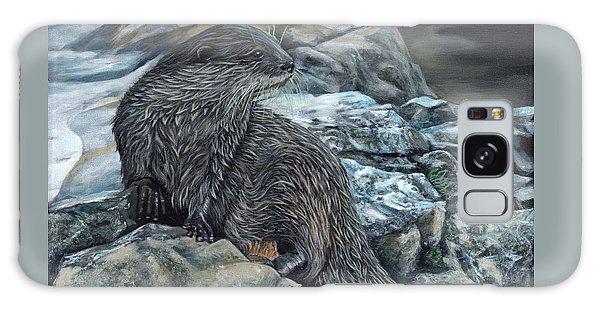 Otter On Rocks Galaxy Case