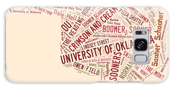 Ou Word Art University Of Oklahoma Galaxy Case