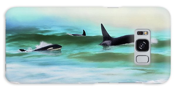 Our Family - Orca Whale Art Galaxy Case