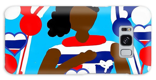 The Art Of Gandy Galaxy Case - Our Flag Of Freedom 3 by Joan Ellen Gandy of The Art Of Gandy