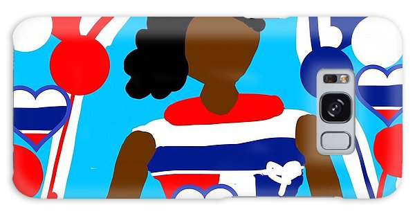 The Art Of Gandy Galaxy Case - Our Flag Of Freedom  by Joan Ellen Gandy of The Art Of Gandy