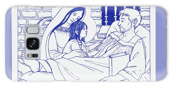 Galaxy Case featuring the painting Our Lady And The Holy Child Jesus Visit St Ignatius The Convalescent In Loyola by William Hart McNichols