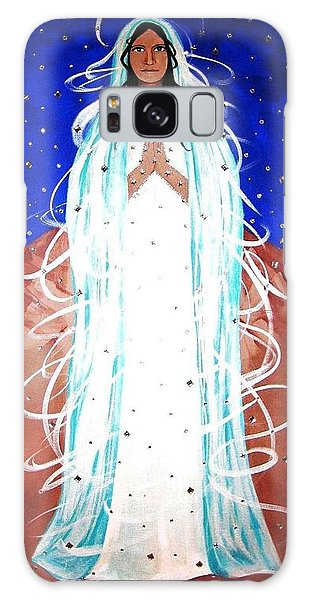Galaxy Case featuring the painting Our Lady Of Lucid Dreams by Michelle Dallocchio