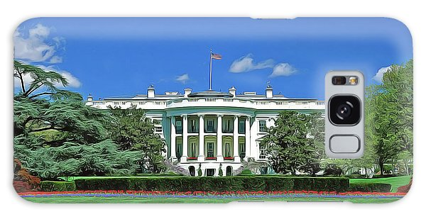 Galaxy Case featuring the painting Our White House by Harry Warrick