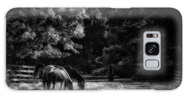 Out To Pasture Bw Galaxy Case by Mark Fuller