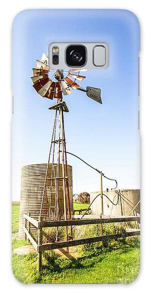 Wind Power Galaxy Case - Outback Australian Farm Mill by Jorgo Photography - Wall Art Gallery