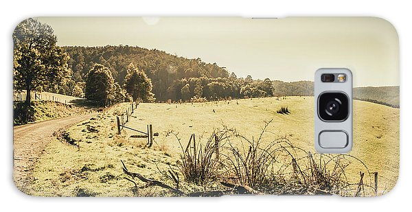 Fence Post Galaxy Case - Outback Bound by Jorgo Photography - Wall Art Gallery