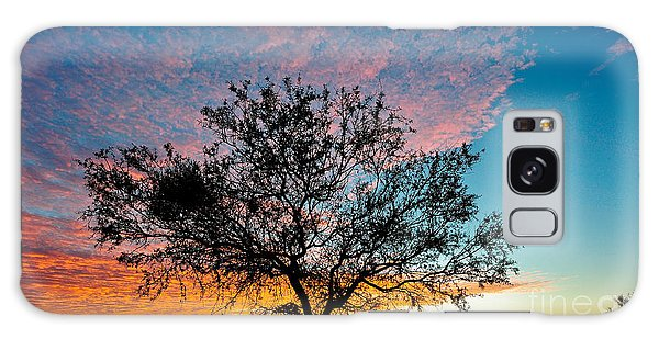 Outback Sunset Pano Galaxy Case