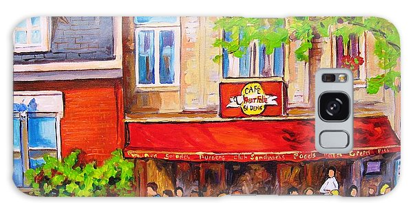 Outdoor Cafe Galaxy Case by Carole Spandau