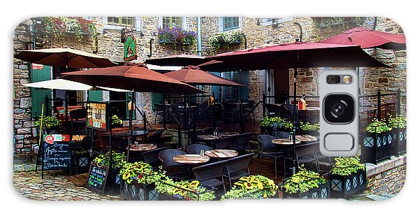 Quebec City Galaxy Case - Outdoor French Cafe In Old Quebec City by David Smith