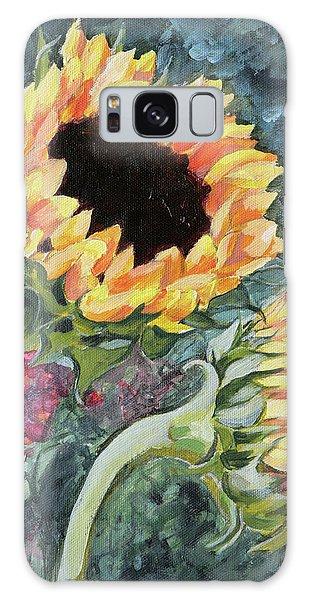 Outdoor Sunflowers Galaxy Case