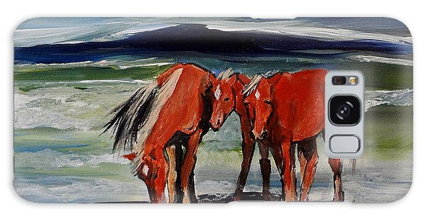 Outer Banks Wild Horses Galaxy Case