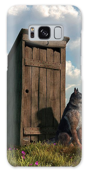 Outhouse Guardian - German Shepherd Version Galaxy Case