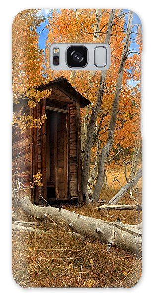 Outhouse In The Aspens Galaxy Case by James Eddy