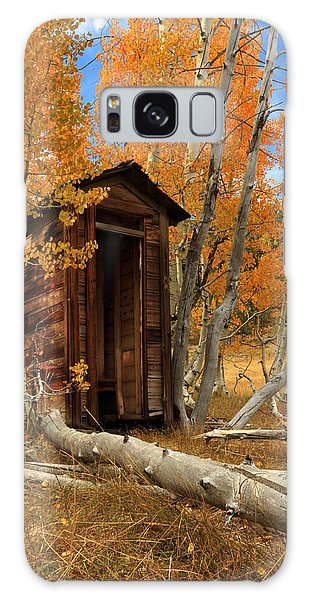 Outhouse In The Aspens Galaxy Case
