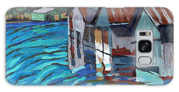 Outlet Row Of Boat Houses Galaxy Case