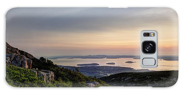 Overlooking Bar Harbor Galaxy Case by Gary Smith