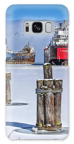 Owen Sound Winter Harbour Study #4 Galaxy Case by Irwin Seidman