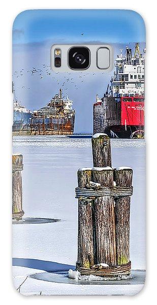 Owen Sound Winter Harbour Study #4 Galaxy Case