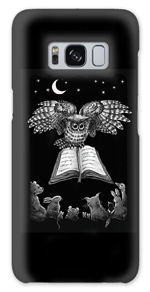 Owl And Friends Blackwhite Galaxy Case