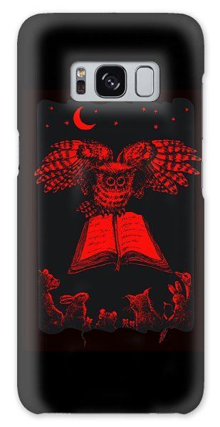 Owl And Friends Redblack Galaxy Case