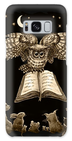 Owl And Friends Sepia Galaxy Case