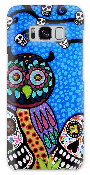 Owl And Sugar Day Of The Dead Galaxy Case by Pristine Cartera Turkus