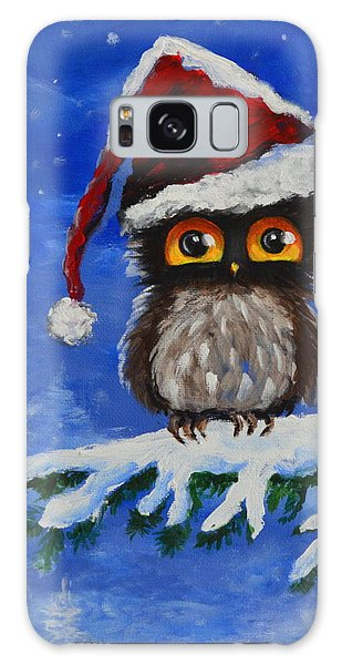 Owl Be Home For Christmas Galaxy Case