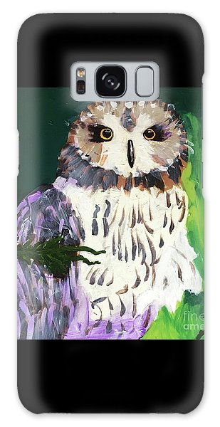 Owl Behind A Tree Galaxy Case