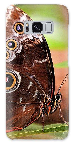 Owl Butterfly Portrait Galaxy Case
