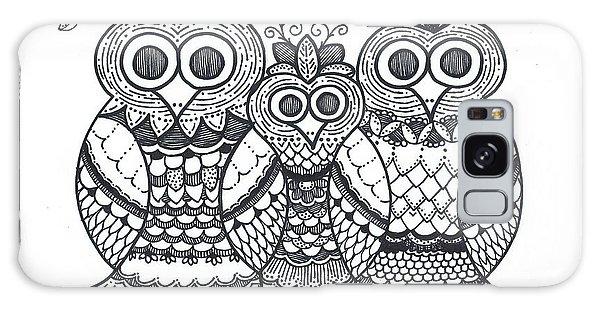 Owl Family Galaxy Case