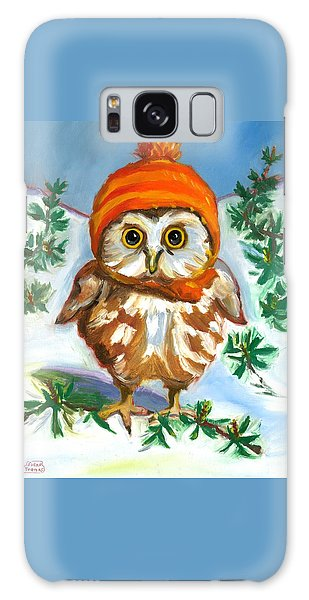 Owl In Orange Hat Galaxy Case by Susan Thomas