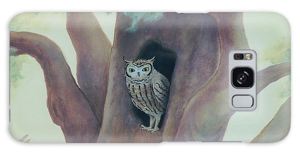Owl In Tree Galaxy Case