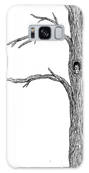 Owl Ink Tree Galaxy Case