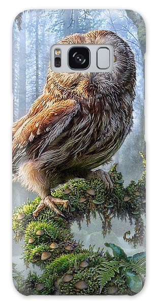 Foliage Galaxy Case - Owl Perch by Phil Jaeger