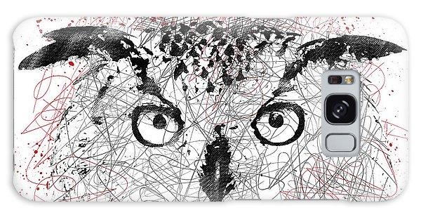 Owl Sketch Pen Portrait Galaxy Case