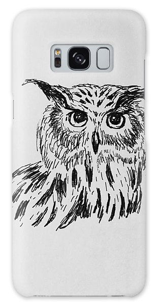 Owl Study 2 Galaxy Case by Victoria Lakes