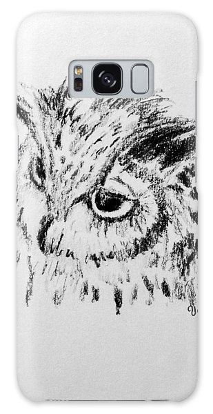 Owl Study Galaxy Case by Victoria Lakes