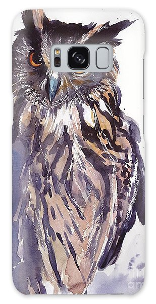 Sparrow Galaxy S8 Case - Owl Watercolor by Suzann's Art