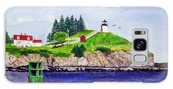 Owls Head Lighthouse Galaxy Case by Mike Robles