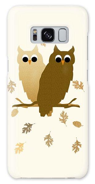 Fall Galaxy Case - Owls Pattern Art by Christina Rollo