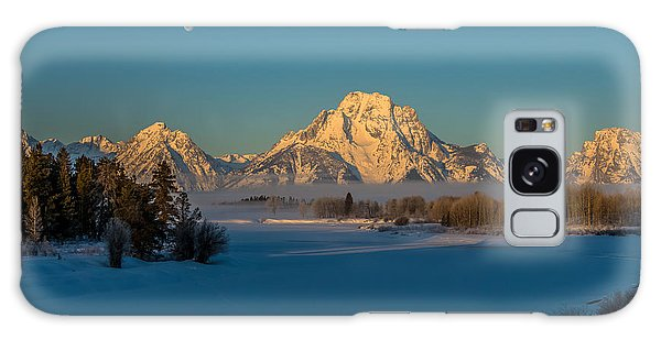 Oxbow Bend In Late Winter Galaxy Case by Yeates Photography