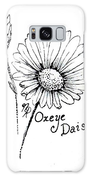 Oxeye Daisy Galaxy Case
