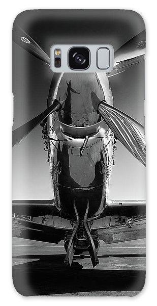 Black And White Art Galaxy Case - P-51 Mustang by John Hamlon